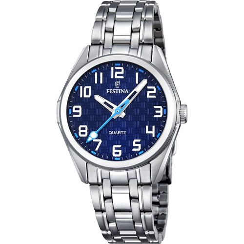 F16903/2 Festina Ladies Round Blue Arabic Bracelet Watch